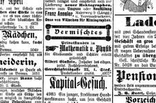 Anzeige vom Februar 1902
