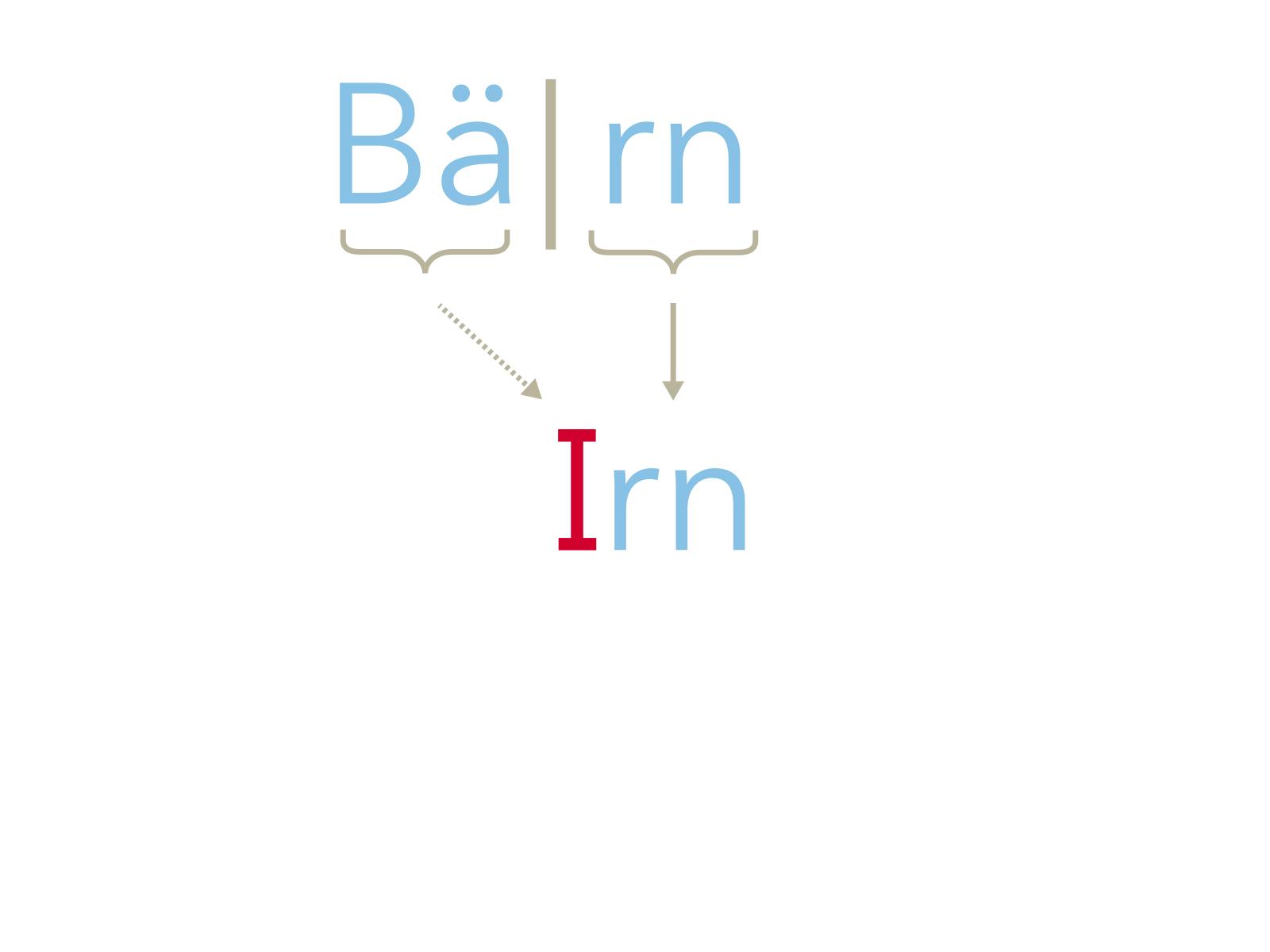 Matteänglisch: Bern, Schritt 3