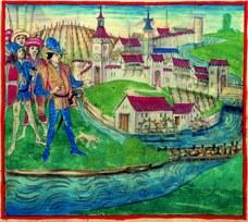 Handwerker und Schiffleute in der Matte