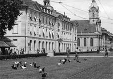 Blasermätteli mit Hühnern des Burgerspitals 1944