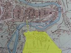 Stadtplan 1895: Neue Kirchenfeldbrücke