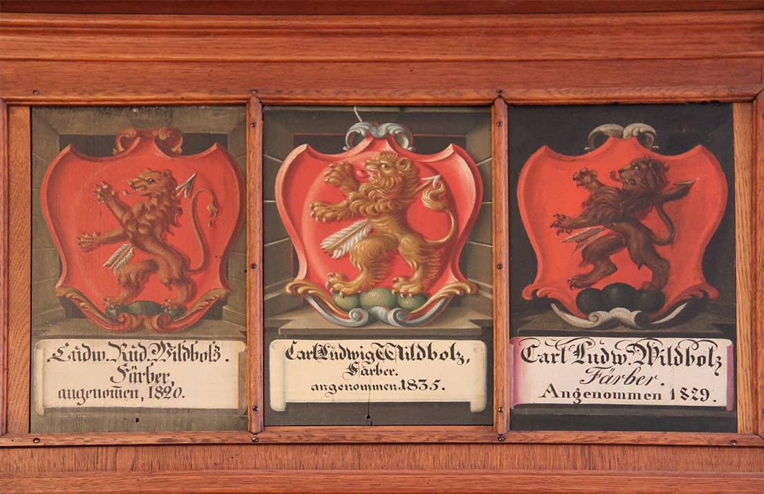 Wappen von neuen Mitgliedern