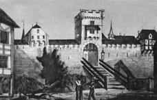 1. Westtor; Zeitschlagen im Zytglogge nach dem Stadtbrand
